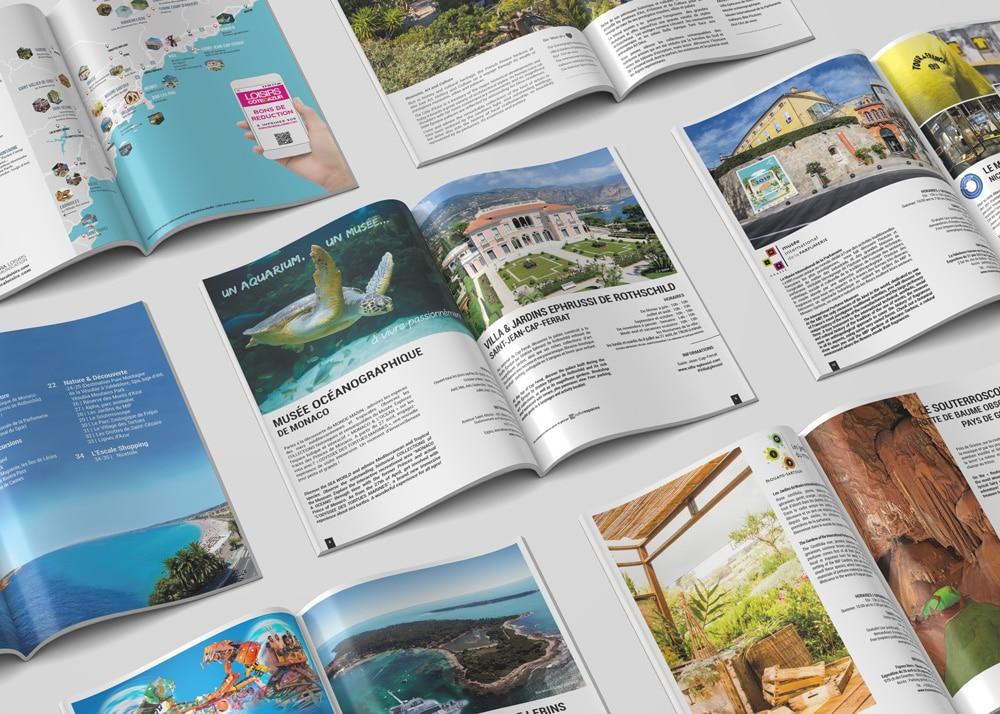 Brochure Mag Loisirs Côte d'Azur dédié aux lieux d' hébergement touristique luxe, 4*,3* de la région