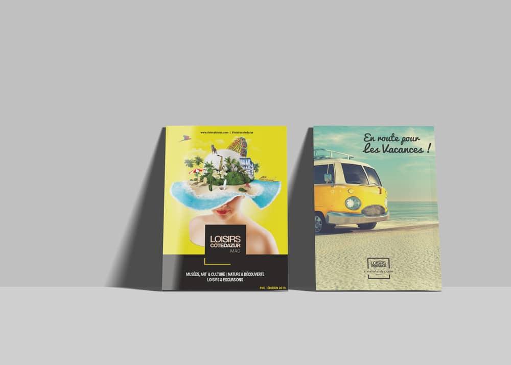 Edition Mag Loisirs Côte d'Azur dédié aux lieux d' hébergement touristique luxe, 4*,3* de la région