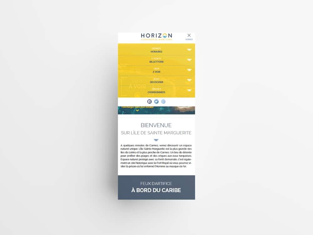 Compagnie Horizon - Site internet