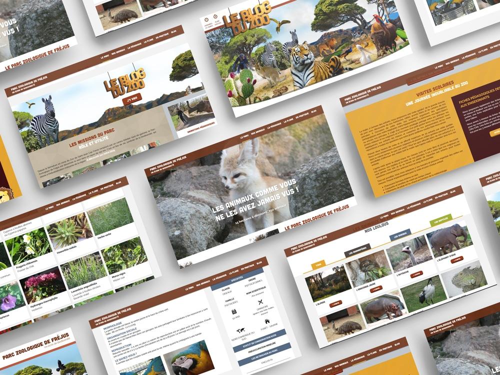 Zoo de Fréjus - Site internet